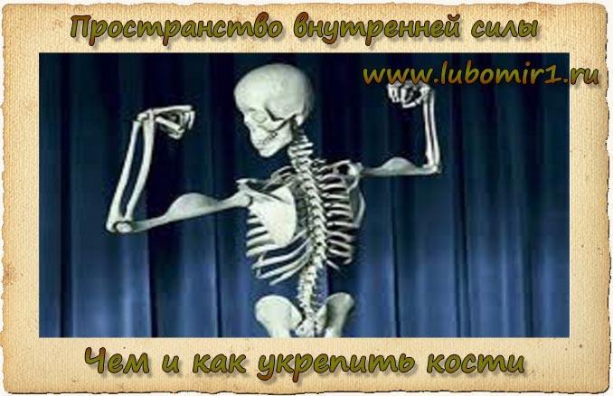 Чем и как укрепить кости
